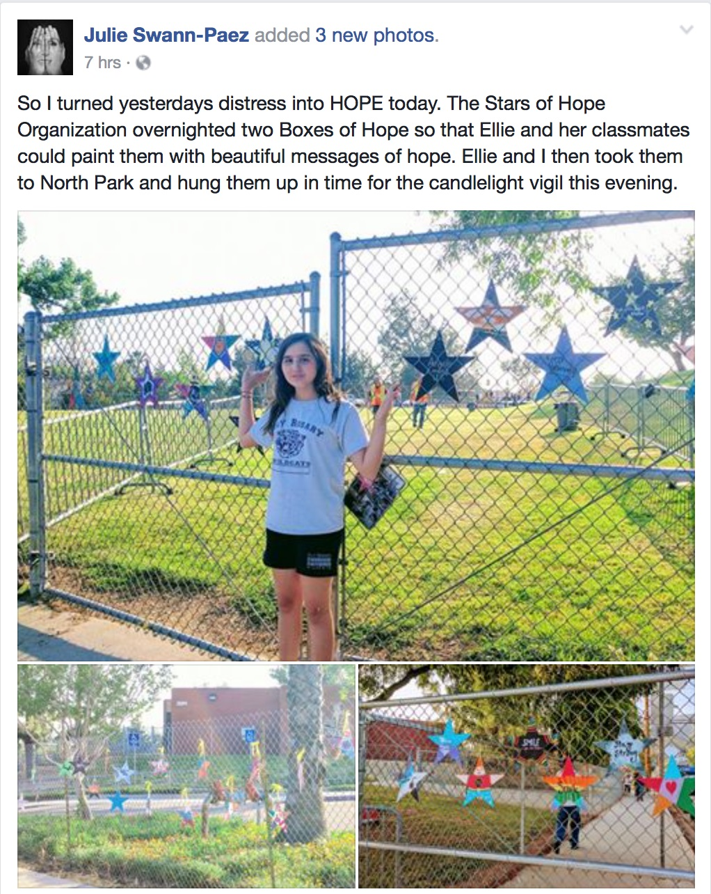 stars of hope, san bernadino, north park
